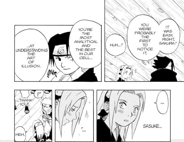 Sasuke's confidence in Sakura's abilities