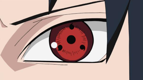 Sasuke's 3 tomoe Sharingan