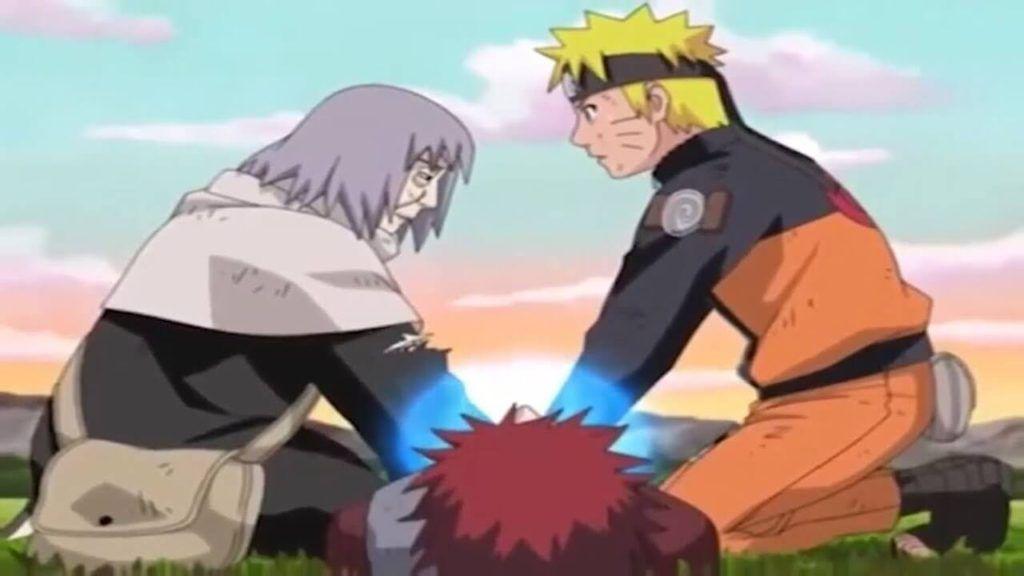 Chiyo Sama, Gaara ,and Naruto