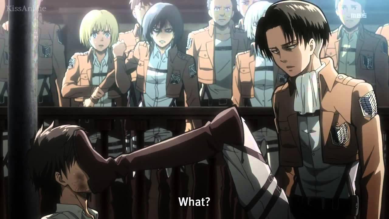 Levi Beating Eren