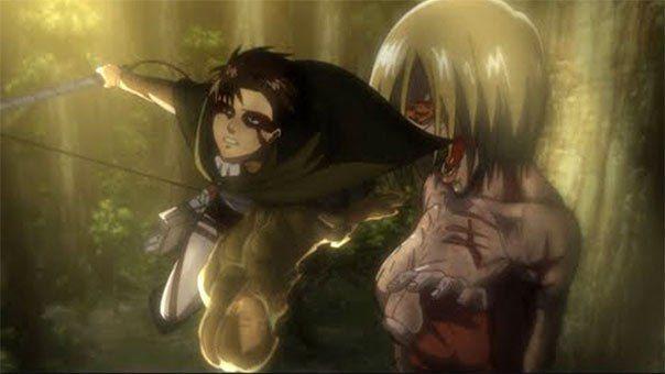 Levi vs. Female Titan