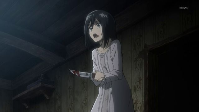 Mikasa Saves Eren and Killed Her Kidnappers