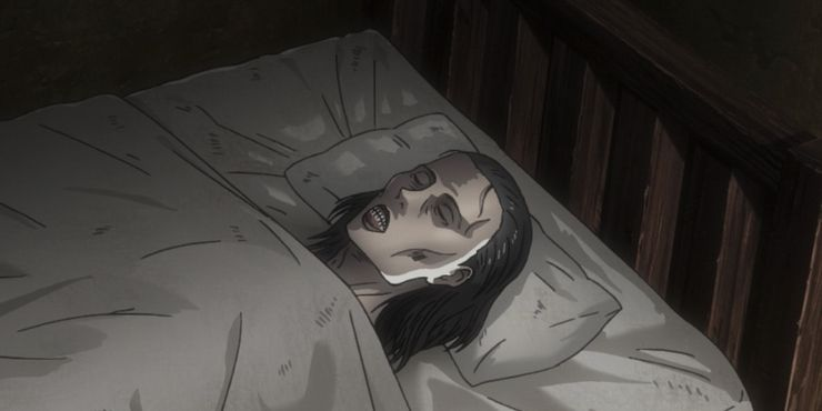 Levi Sitting With His Mother's Body