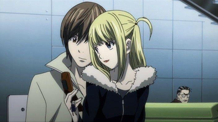 Misa Amane with Light Yagami