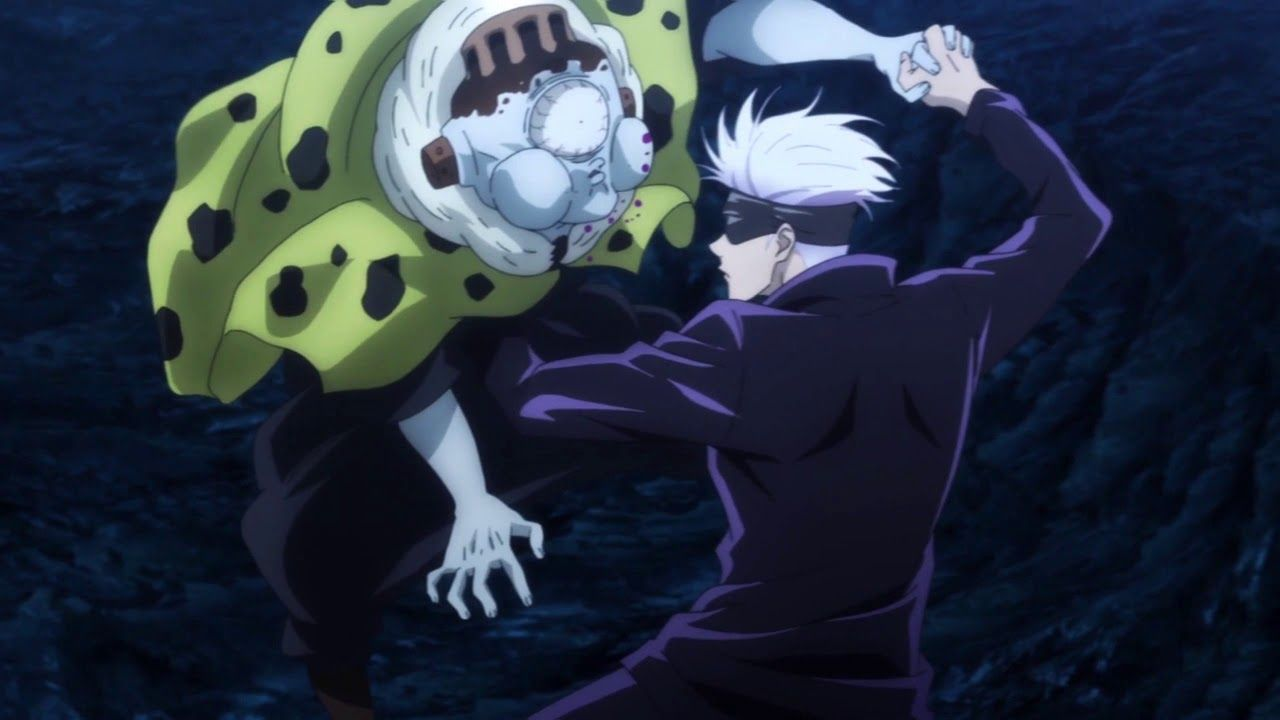 Gojo provokes Jogo in the middle of the fight